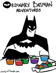 """""""Batman isn't the best Easter Egg artist…"""" - Ordinary Batman Adventures"""