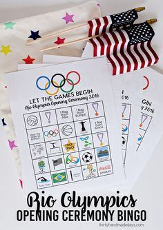 Rio Olympics Opening Ceremony BINGO - download and print these BINGO sheets for the Opening Ceremony.