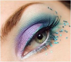 You can Create this Beautiful Look with Turquoise & Lavender Eyeshadows