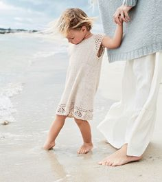 Sandnes 1705-02 Crochet Bebe, Baby Kind, Lace Skirt, White Dress, Knitting, Knits, Instagram, Dresses, Fashion