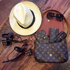 Must Haves for Summer! Shop all handbags, shoes & accessories on our website! Call us at 813-258-8800 if you would like to purchase the fedora! www.mymoshposh.com #louisvuitton #lv #lvmonogram #lvwallets #louisvuittonsunglasses #gucci #gg #guccisandals #bcbg #bcbgfedora #fashion #trendy #summermusthaves #summerstyle #luxury #purseblog #purselover #shoelover #talkshoes #moshposhfinds #pbwimb #mymoshposh #designerconsignment