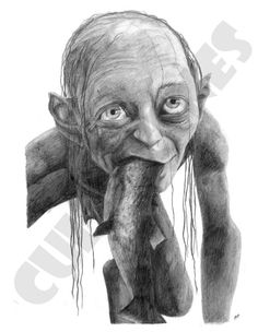 Smeagol Pencil Drawing by cultscenes on Etsy, £7.00