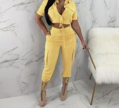 Beach Outfits Women Plus Size, Two Pieces, Playsuit, Jumpsuits For Women, Overalls, Rompers, Clothes For Women, Lemonade, Sexy