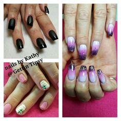 #stpattysdaynailart #ombre #blackmatte Nails, Beauty, Finger Nails, Ongles, Cosmetology, Nail, Sns Nails