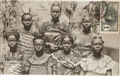 Togolese hairstyles from Duncan Clarke's old postcard