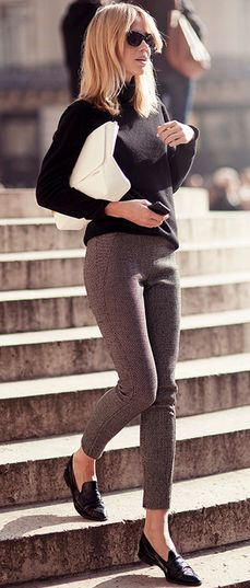 Good way of wearing those shoes and that style.
