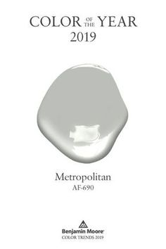 Benjamin Moore's Color of the Year 2019 Metropolitan is a calm, composed and effortlessly sophisticated paint color. In matters of interior decorating and design, this gray paint color always finds common ground. Source by benjamin_moore