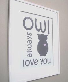 Owl print - @Meagan Buckley-Leonard I knew you would love Pinterest!