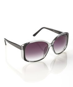 Another great find on #zulily! Black Square Sunglasses #zulilyfinds