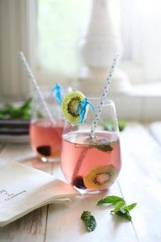 Kiwi Blackberry Summer Sangria - a Perfect Aphrodisiac Drink