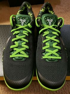 hot sale online 6e1b4 2d7a5 Nike Kobe VIII 8 System PP Black Green Sz 8 Men s Basketball Shoe  1121