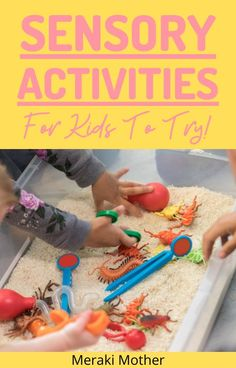 Sensory play has never been easy than with our ultimate list of 50+ affordable sensory activities for kids! #sensoryplay #sensoryactivities #forkids