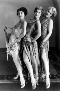 1928 Queen of pearls Anita Page, pictured below right with actresses Joan Crawford and Dorothy Sebastian for the film Our Dancing Daughters