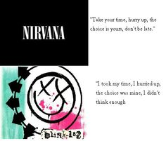 I knew I wasn't crazy!! Blink 182