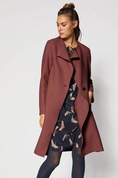 COAT made of organic virgin wool, felted Capsule Wardrobe, Models, Winter Collection, Wool Coat, Outfit, Duster Coat, Fall Winter, Felt, Feminine