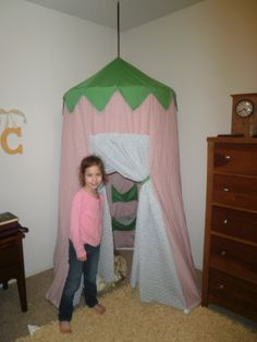 Fairy tent. Mccall pattern. PVC pipe instead of vinyl mat