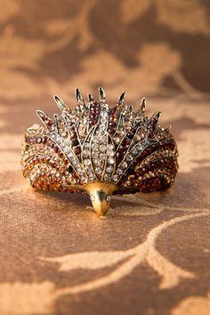 Foxy - Vintage Golden Eagle Cuff Bracelet