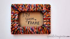 Crafts to Make and Sell - Yarn Picture Frame - Easy Step by Step Tutorials for Fun, Cool and Creative Ways for Teenagers to Make Money Selling Stuff - Room Decor, Accessories, Gifts and More http://diyprojectsforteens.com/diy-crafts-to-make-and-sell