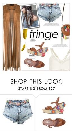 """""""Festival Trend: Fringe!"""" by meyli-meyli ❤ liked on Polyvore featuring RED Valentino, River Island and fringe"""