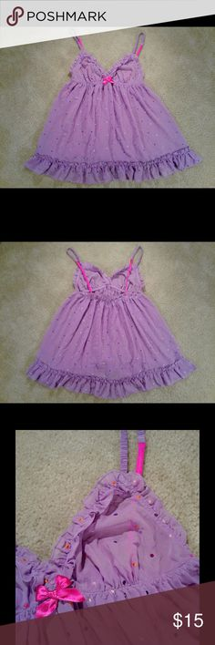 """💋 Victoria's Secret Multi-color dot Babydoll Top 💋 Victoria's Secret Multi-color dot Babydoll Top. Size Medium. Cute ruffle detail. Playful & flirty.  Length 25"""" Pit to pit across 12.5. Please take into consideration all measurements are APPROXIMATE. TY for looking. 🙂. **Don't have a Poshmark acct? Use code GYGCH & get $5 to use ANYWHERE on Poshmark! 🤑 Get Your Good Coin Honey & happy shopping! 🛍 Victoria's Secret Intimates & Sleepwear"""