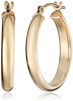 14k Yellow Gold Hoop Earrings (0.76 Diameter) *** Find out more about the great product at the image link.