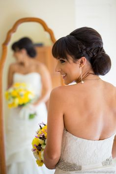 I love this bride's cheeky look :)  See more at www.jonharris.photography/weddings