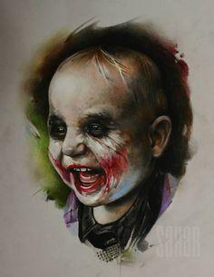 Baby Joker, art by Sergey Shanko