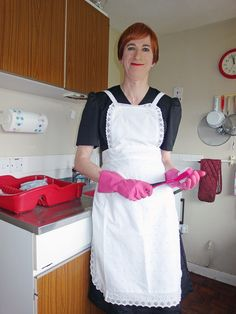 with the washing-up now! One Hundred Years, Chef, Help Me, Veronica, Things To Sell, Maids, Aprons, Apron Designs, Apron