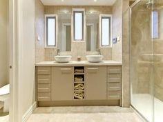 Classic bathroom design with twin basins using ceramic - Bathroom Photo 1279193