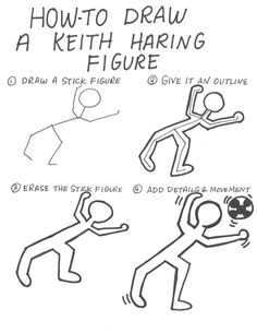 How to draw a keith haring figure The Effective Pictures We Offer You About art… - Kunstunterricht Keith Haring Kids, Keith Haring Shirt, Keith Haring Poster, Keith Haring Prints, Art Lessons For Kids, Art Lessons Elementary, Art For Kids, Keith Haring Clothing, Pop Art Artists