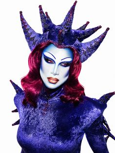 Miss Fame - BluePlanet Alien look. Photographed by Marcelo Cantu