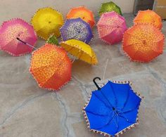 Indian umbrella 5 pieces of Brand new Decorative Sunshade   Etsy Umbrella Decorations, Lanterns Decor, Outdoor Decorations, Christmas Decorations, Mango Flower, Indian Wedding Decorations, Indian Decoration, Indian Weddings, Folding Canopy