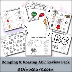 Welcome to Manic Monday at Classroom Freebies! Preschool Literacy, Preschool At Home, Preschool Printables, Abc Printable, Preschool Ideas, Classroom Freebies, Classroom Crafts, Classroom Ideas, Learning Letters