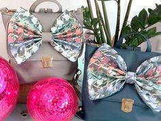 1.Disco Grey Captain Size:H35x cm x W 35 cm Light Grey Faux Leather / Disco Fabric Bow Backpack & Messenger Bag. 2.Disco Navy Blue Size :H 36cm x W 40cm Navy Blue Faux Leather /Disco Fabric Bow Backpack & Messenger Bag.