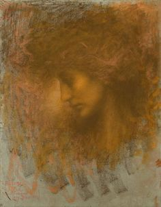 Lucien Levy-Dhurmer (French, 1865 - 1953)  The Head of a Young Woman, N/D