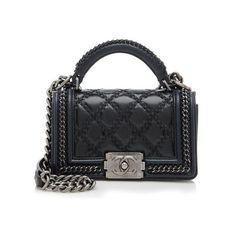 747088ab1cf6 Rental Chanel Paris-Salzburg Leather Small Top Handle Boy Bag ( 400) ❤ liked