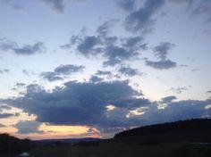 Evening clouds enjoying, right now. Krumlov-Prague