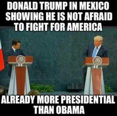 ALREADY more presidential than Hobama AND Killary!!! #Trump2016
