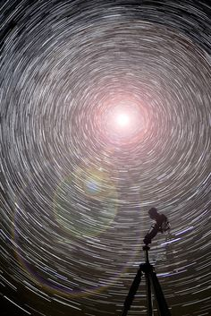 """""""When you wish upon a star Makes no difference who you are Anything your heart desires Will come to you""""                                                                              87x 25 second exposures, 36 minutes total, at ISO 3200 f/2.8, put together in StarstaX added the lens flare post process. Experimenting with star trails, the tripod with camera attached was there, must remember to remove the strap next time!"""
