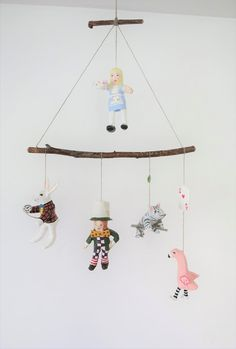 alice in wonderland baby mobile by jikits