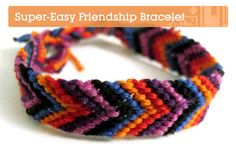 Learn How to Create a Simple Friendship Bracelet. Check out this tutorial! http://craft.tutsplus.com/tutorials/jewellery/how-to-make-a-super-easy-friendship-bracelet/
