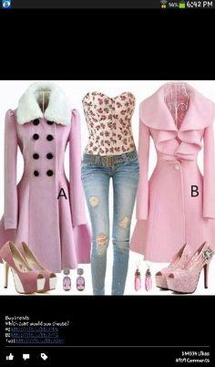 I would wear B