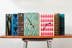Vintage book clocks designed by Grahnat