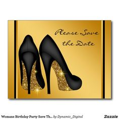 Womans Birthday Party Save The Date Postcard