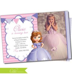 Sofia The First Free Printable Invitations Cards Or Photo Frames - Sofia the first invitation template