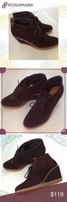 ✨HP✨Coach Beauties✨✨ Excellent NEW Condition! Wrapped in original box...Worn maybe once, purchased and hoped they ran small but these are a true 7.5 as I wear a 7 and to big✨ beautiful suede leather..no flaws, no marks✨ Coach Shoes