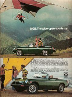 Vintage MGB Ad - 1976