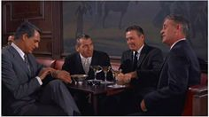 Cary Grant in The Oak Room at The Plaza in NYC. From North by Northwest [Need to acquire still]