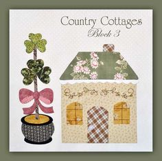 Country Cottages Block off Remnants, Darling New Quilt Kit! House Quilt Patterns, House Quilt Block, House Quilts, Fabric Houses, Quilt Block Patterns, Quilt Blocks, Quilting Tutorials, Quilting Projects, Quilting Designs