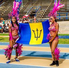 Barbados flag,Crop Over